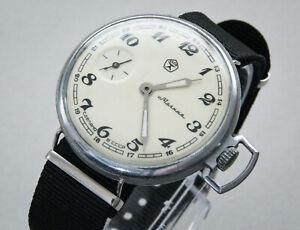 Molnija Taschenuhr, Armbanuhr umgebaut USSR, Vintage Russian Pocket Watch