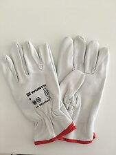 WURTH GRAIN LEATHER GLOVE WITH REINFORCED THUMB - Size 9
