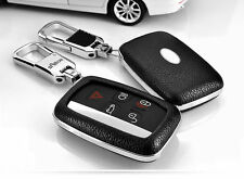 Remote Leather FOB Key Cover Case For Land Rover LR4 Sport Range Rover Evoque