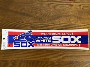Vintage 1983 Chicago White Sox Bumper Sticker UNUSED