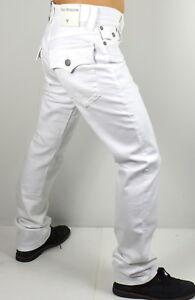 True Religion Men's $179 Ricky Optic White Straight Jeans - MDA859N29T