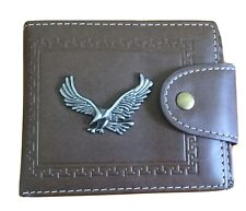 Mens Brown Trifold Wallet
