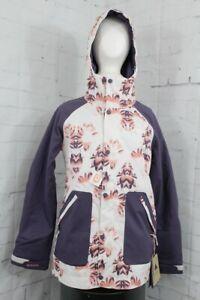 Burton Eastfall Snowboard Jacket, Women's Small, Stout White Stylus / Purple New
