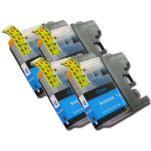 4 LC223 Cyan Ink Cartridge For Brother MFCJ5320DW MFCJ5620DW MFCJ5625DW non-OEM