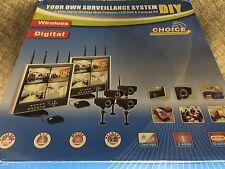 "Astrotel Digital Wireless 4 Camera Surveillance System ""15 LCD Monitor CALCD4"