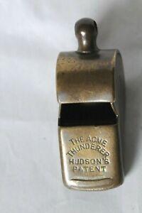Vintage Hudson patent Acme Thunderer whistle G.E.R. Great Eastern Railway?