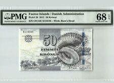 2011 Faeroe Islands/Danish Administration 50 Kronur PMG68 SUPERB GEM UNC <P-29>