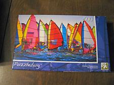 """Puzzlebug 500 pc jigsaw puzzle """"Colorful Windsurfing"""" 8+ fully interlocking"""
