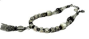 Bijou collier créateur alliage argenté Reminiscence necklace