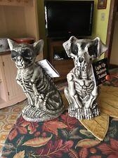 NWT   Scary  Halloween Puppy + Kitty  Light Up Skeleton Animals
