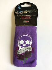 Glam Rox Skull Purple Sock for Mobile Small Smart Phone, MP3 Case Pouch Cover
