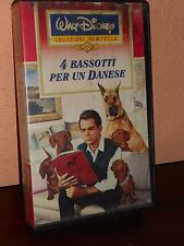 4 bassotti per un danese- VHS ed. Walt Disney-CINEMA- CULT MOVIE