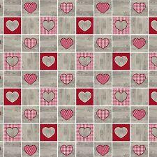 Oilcloth Tablecloth 160 cm Width B9073-01 Love Heart Angular round Oval