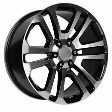 20 inch GM Accessory CK158 OE Replica Black Machined Wheels Rims Chevy Silverado