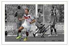 MARIO GOTZE GERMANIA 2014 Coppa del mondo AUTOGRAPH SIGNED FOTO Stampa Calcio autogramm