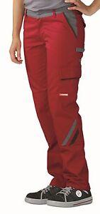 Planam Damen Bundhose Highline Arbeithose für Frauen rot schiefer 2391
