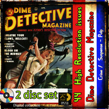 Dime Detective  Magazine collection-  crime, mystery,  murder and stories