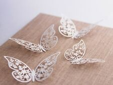 10 x Laser Cut Butterfly Wedding Table Decorations Hanging Butterflies ZPM1D