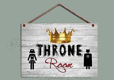 La sala del trono inodoro Baño Signo Signo, baño, Batman Divertido Placa De Madera