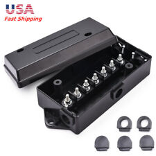 7-Pole Trailer Wire Cord Junction Box Connection Case Holder for RV Camper
