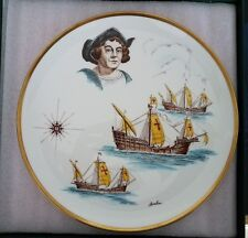Christopher Columbus 500th Anniversary - 1992 Boehm Gold Rimmed Porcelain Plate