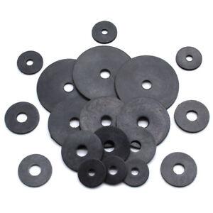 BLACK NEOPRENE RUBBER PENNY WASHERS M5 M6 M8 M10 M12, 20mm 25mm 30mm 40mm 50mm