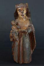 Statue Religieuse 15e haute époque Médiéval Gothique Vierge à l'enfant France