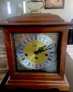 Vintage Howard Miller Model 612-437 Keywound Mantel Clock Franz Hermle Movement