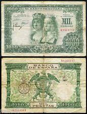 ESPAÑA SPAIN 1000 pesetas 1957 REYES CATOLICOS Pick 149 RC / G