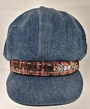 That's So Raven Women's Jean Multicolored Border Cabbie Cap
