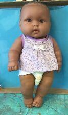 "Berenguer 13"" African American Vinyl Newborn Chubby Baby Doll"