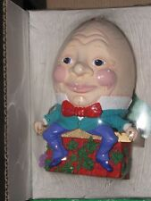 VTG Department 56 Mother Goose Christmas Ornament Humpty Dumpty 1323-4 In Box