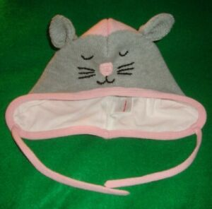 HANNA/ANDERSSON~girl~COTTON/mouse/LINED/CAP! (S~1/3/Yrs)NWT! $30.00 REALLY/CUTE!
