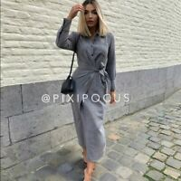 ZARA NWT FW20 KNOTTED LIMITED EDITION GRAY DRESS REF 8397//528