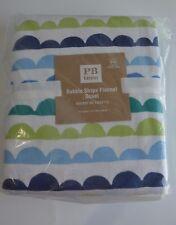 Pottery Barn Teen Kids Bubble Stripe Flannel Duvet Cover Full Queen #87