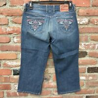 Lucky Brand Classic Fit Crop Women's Jeans Size 10  Distressed Wash
