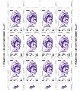 Togo Definitives Stamps 2020 MNH Bella Bellow Singers Music Reissue 5000F 12v MS