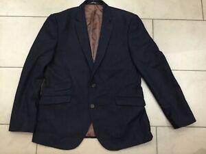 CEDAR WOOD STATE Mens navy WOOL BLEND tailored fit blazer jacket UK 41-43   L