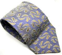 "Jeff Banks STVDIO Men's Tie Blue Abstract 100% Silk 3.75"" Width 59"" Length"