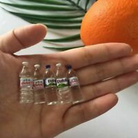 4pcs Mini Tiny Mineral Water Scale Models Dollhouse Miniature Toy Doll Food New