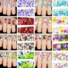 50 fogli Nail Art Water Transfer Stickers Decal Adesivi Unghie Tips Decorazione