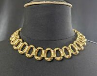 Lovely Vintage Heavy Gold-tone Link  Necklace by Ciner Jewellery