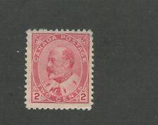 King Edward VII 1903 Canada 2c Postage Carmine Stamp #90 Scott Value