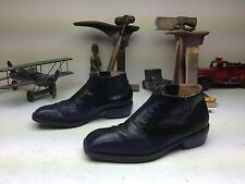 GIORGIO BRUTINI ZIP UP DISTRESSED BLACK LEATHER BEATLE BOOTS 10 M