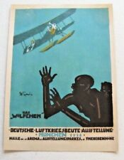 Original WWI  poster (Das Plakat facsimile) -(2)German Warplane Exhibition, 1918