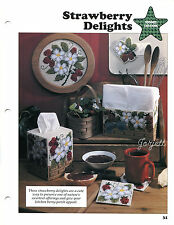 Strawberry Delights ~ Motif Coaster Tissue Cover & More plastic canvas patterns