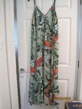 NEW w tags LC Lauren Conrad Long Sheer Dress S Small Tropical Leaves Beach Shop
