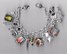 BEETLEJUICE Inspired Charm Bracelet Altered Art---Gift Bag --Lacquered Charms!