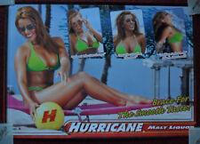 Sexy Girl Beer Poster Hurricane Malt Liquor ~ Green Bikini Brace for Smooth Tast