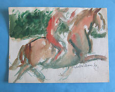 Horse with rider watercolor John F. Williams